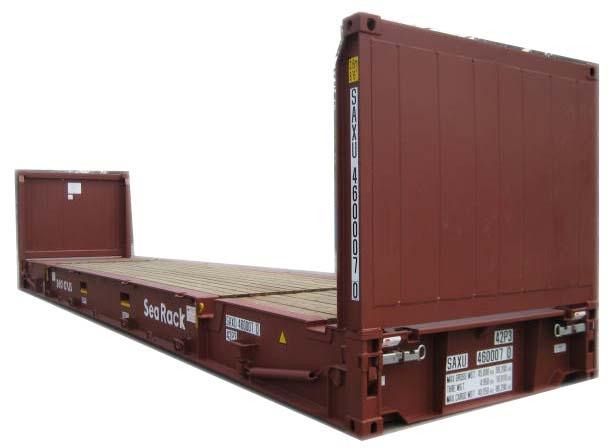 Flat container, Philco Internationnal, Le Havre - Paris - Marseille, France