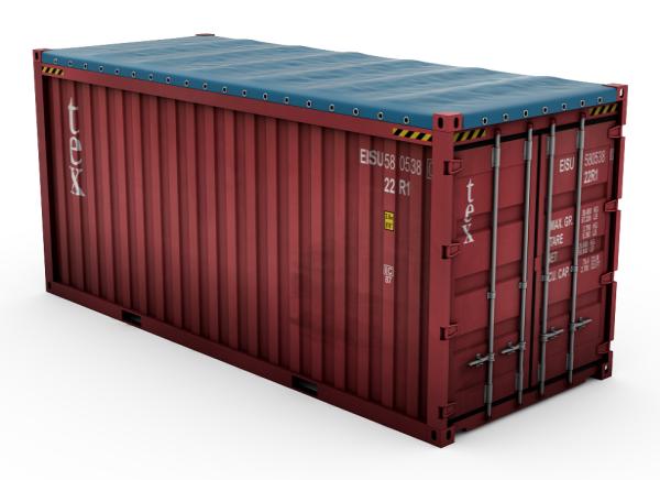 Open top container, Philco Internationnal, Le Havre - Paris - Marseille, France